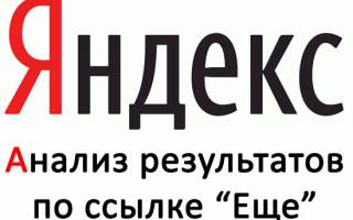 Зависимость дополнительных результатов поиска по сайту в Яндексе и места в ТОП 10