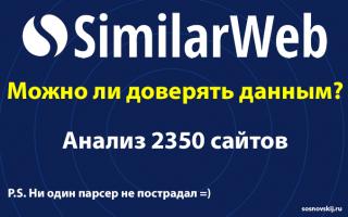 Можно ли доверять SimilarWeb? Анализ 2350 сайтов Рунета