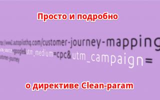 Clean-param Пам-Пам или об одном простом способе закрытия страниц от индексации в Яндексе
