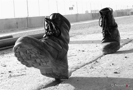 шаги сапог без ног