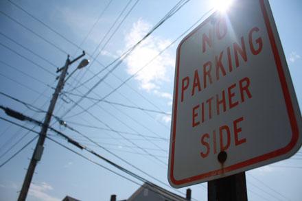 нельзя парковаться