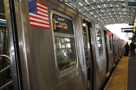 электричка в метро Нью-Йорка