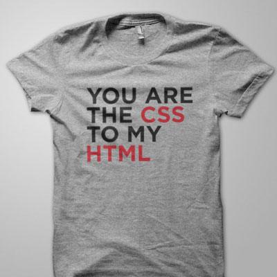 футболка с надписью html css