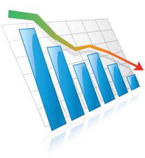 график падения