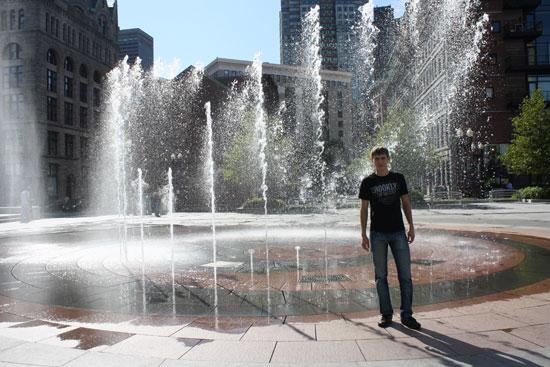 фонтан в Бостоне
