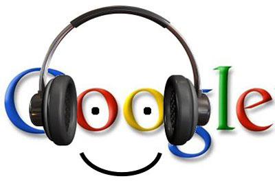 логотип google в наушниках