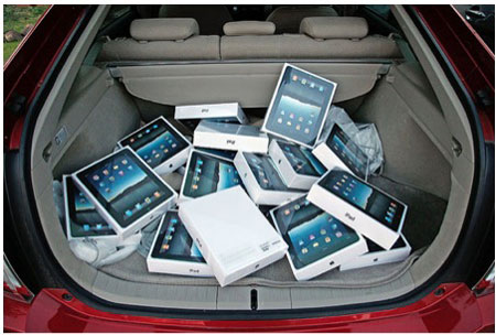 ipad 2 в багажнике