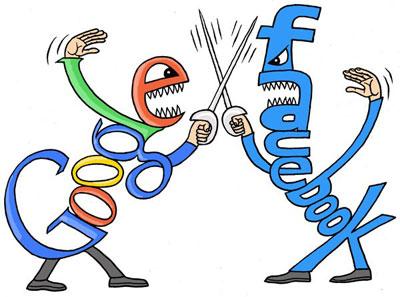 борьба Facebook и Google