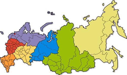 Регионы России. Продвижение сайта в разных регионах