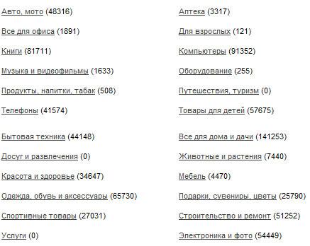 ассортимент товаров в gdeslon.ru