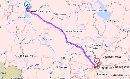 маршруты в Яндекс.Картах