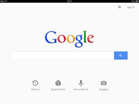 приложение Поиск Google для Ipad