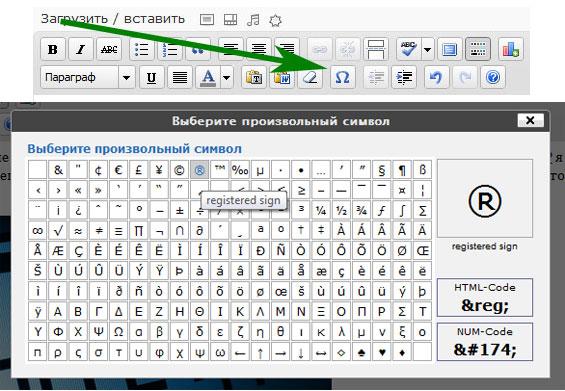 символы в wordpress