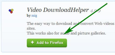 скачиваем плагин video downloadhelper