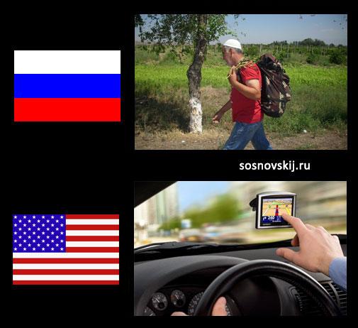 машины в США и России