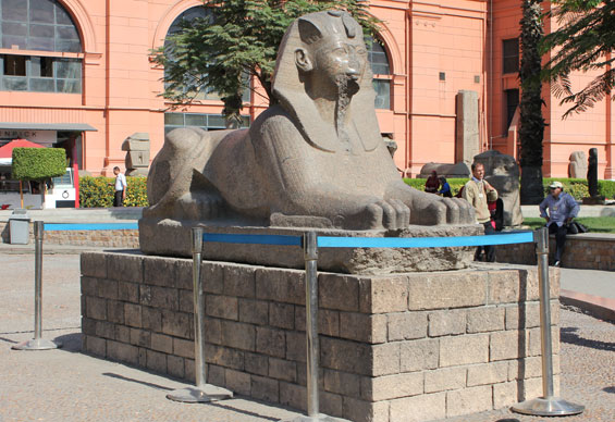 сфинкс в каирском музее