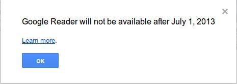 закрытие Google Reader с 1 июля
