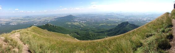 панорама с горы Бештау
