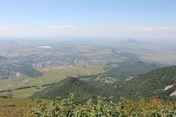 вид с вершины горы Бештау