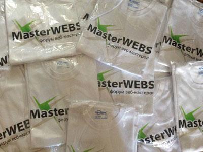 футболки masterwebs