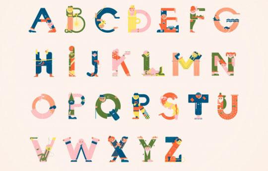 оригинальная типографика