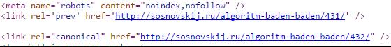 meta name=robots noindex и nofollow