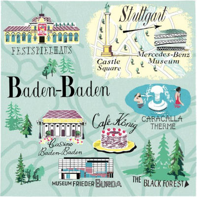 карта Баден-Бадена