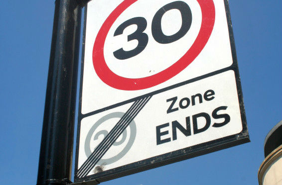 30, конец зоны 20