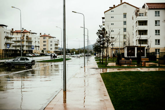 пасмурно после дождя