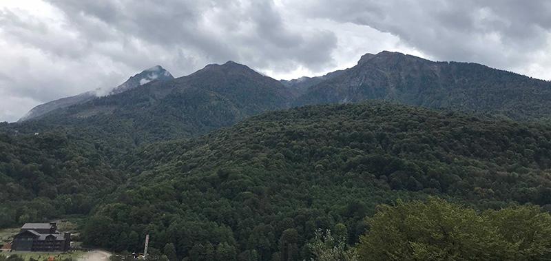 горы из апартаментов