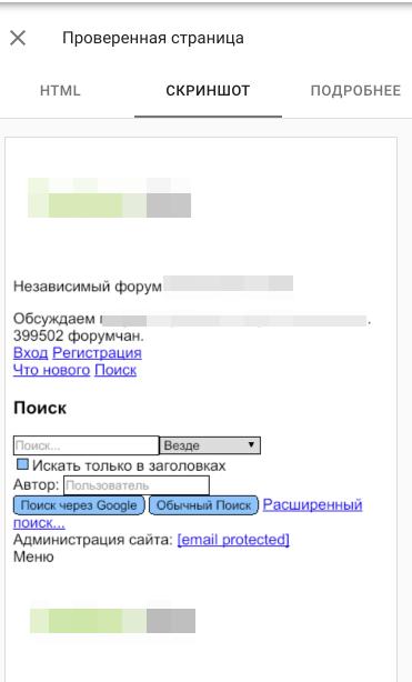 скриншот из Google Search Console
