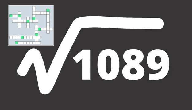 корень из 1089 = 33