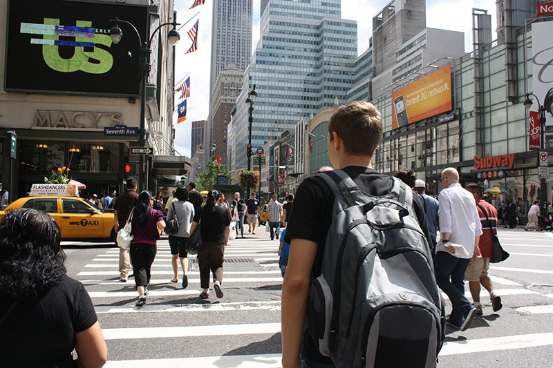 Пешеходный переход в Нью-Йорке