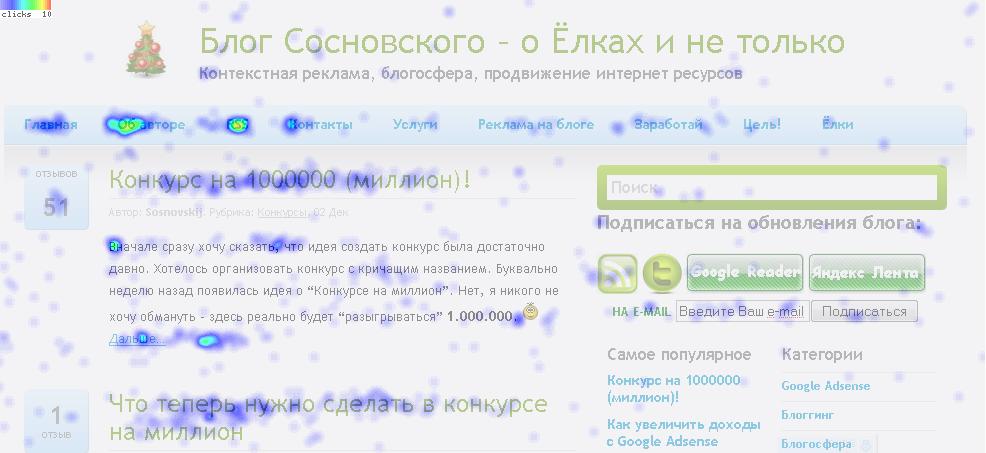 clickheat - тепловая карта сайта