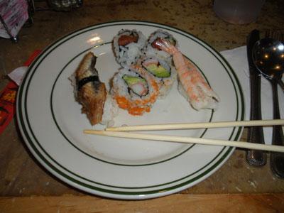суши в китайских ресторанах
