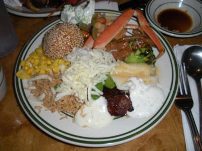 тарелка в китайском ресторане