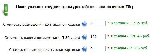 примерные цены для сайта с тиц=50 в gogetlinks
