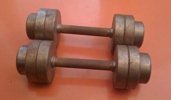 15-килограммовые подружки - гантели