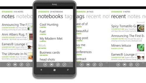 приложение от Evernote для Windows Phone 7