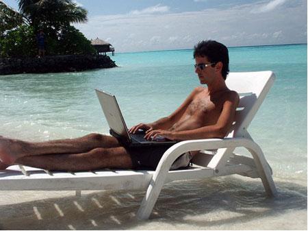 работа на пляже
