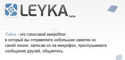 сервис голосовых мирокблогов leyka.net