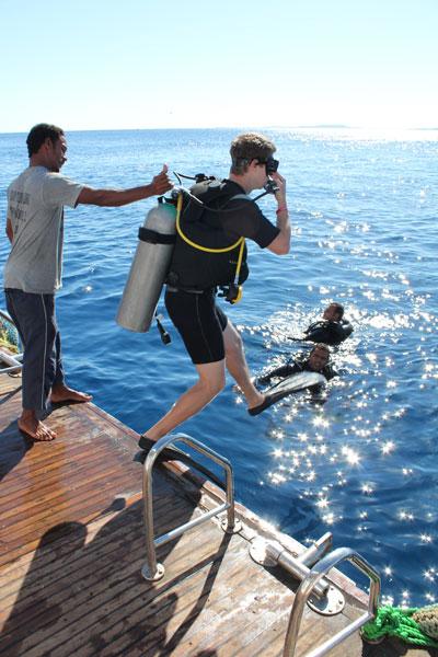 прыжок с аквалангом