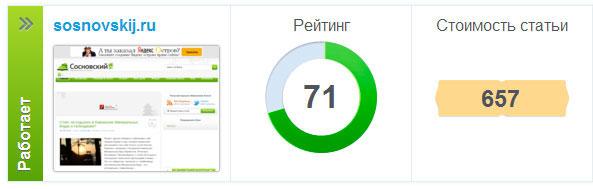 рейтинг блога в WebArtex