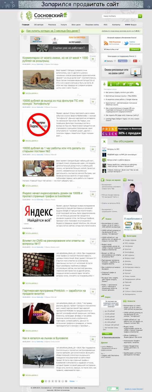 ночное оформление для блога sosnovskij.ru