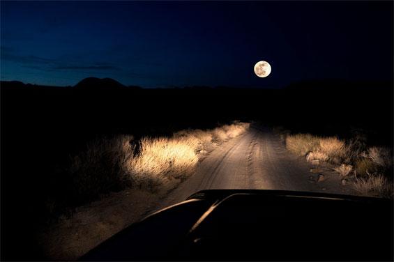 дорога и луна
