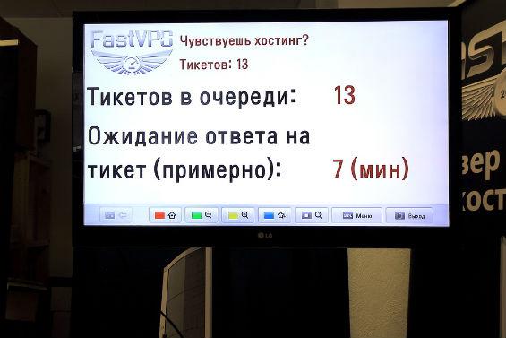 Экран со статистикой тикетов