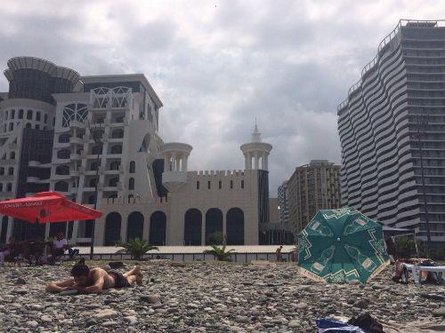 галька на батумском пляже