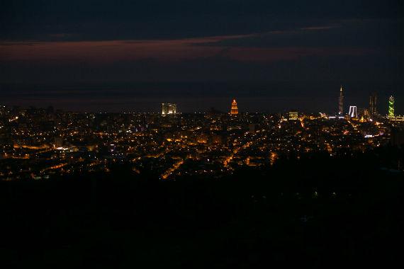 ночная панорама Батуми