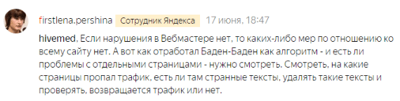 Что делать, если в Яндекс.Вебмастере не уведомления о наложении фильтра?