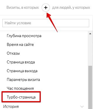 выделение сегмента в Яндекс.Метрике